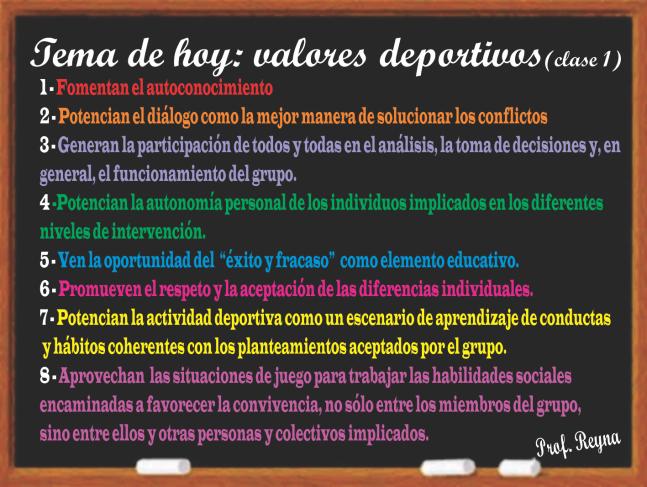 Valores Deporivos