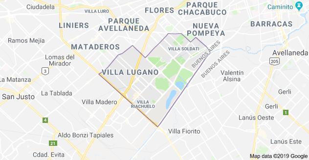 mapa comuna 8